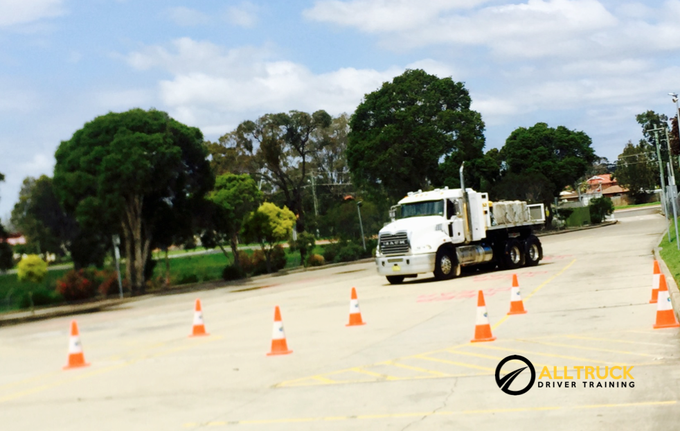 Mack Granite used for truck licence course